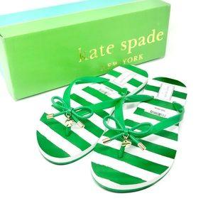 NWT Kate Spade New York 'Nova' Flip Flop in Green